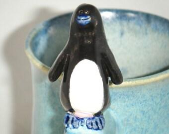 Penguin Mug Egg Ice Blue Tuxedo Bird Cup
