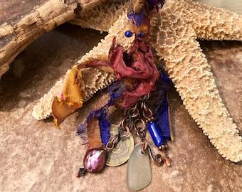 Copper Boho Talisman Necklace