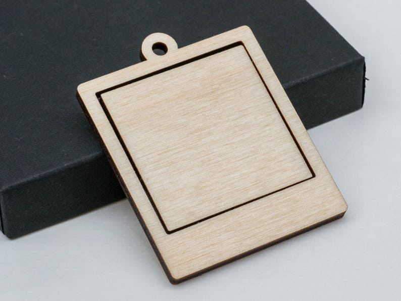 1″ x 1.5″ Embroidery Hoop Pendants Coffin 25mm x 38mm Laser Cut Walnut Wood