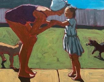 "Back Porch  |  Original Painting on Canvas, 16""x20"""