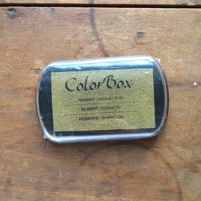 ColorBox Archival Pigment Ink Pad  Metallic Gold image 0