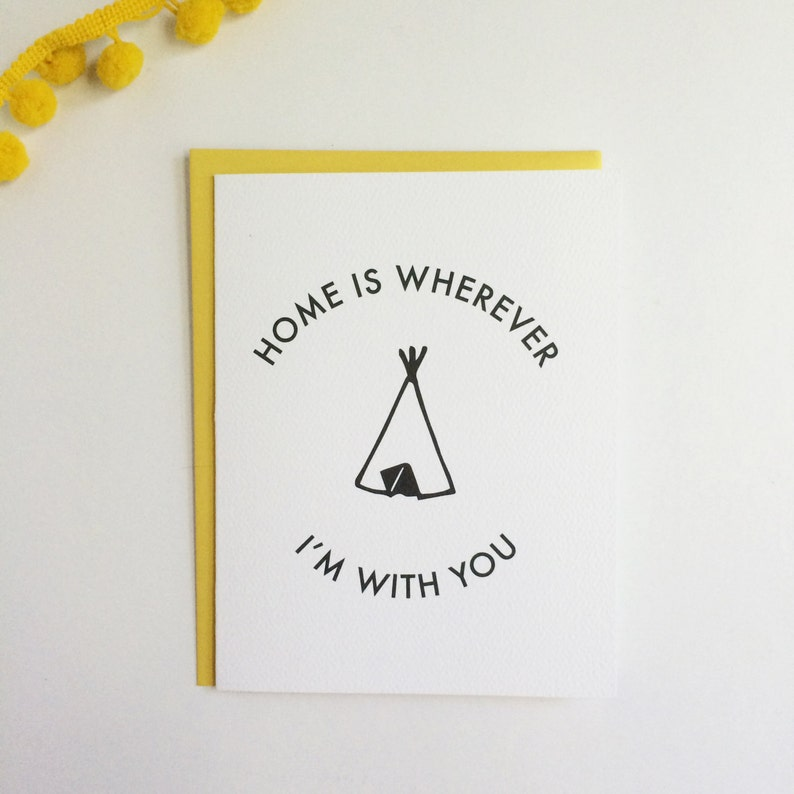Home is Wherever I'm with You  Thoughtful card image 0