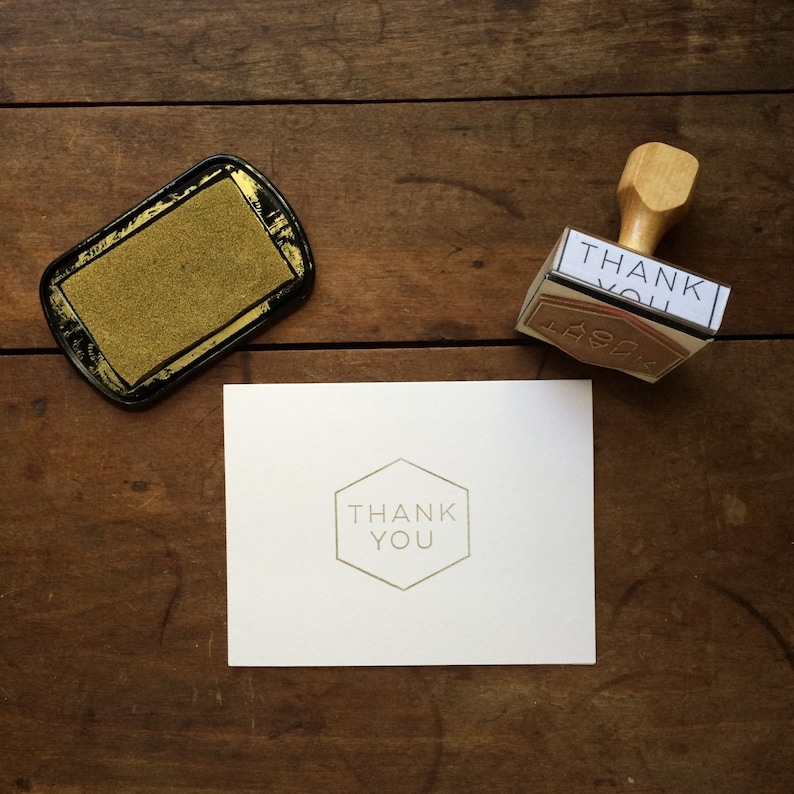 Mid Century Inspired Thank You Stamp  DIY Thank You Card  image 0