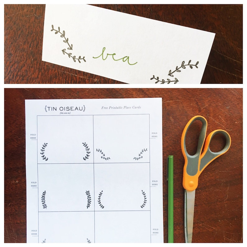 Printable Place Cards  Perfect for Thanksgiving Christmas image 0