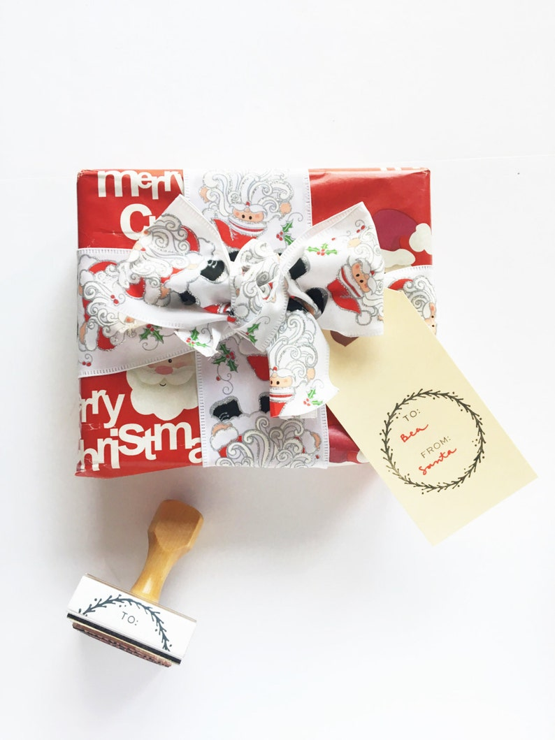 Gift Tag Stamp  To/From Stamp  Christmas Stamp  Gift Stamp image 0