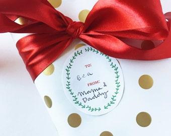 Printable Gift Tags   Hand Drawn Botanical Illustrations Holiday Christmas Gift Wrap Packaging