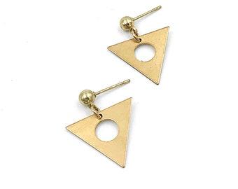 Minimalist Triangle Studs