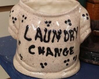 Laundry Room Shirt Change Holder Ceramic Handmade Craft