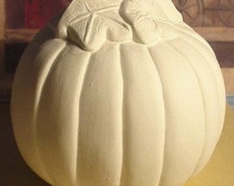 Pumpkin UNFINISHED CERAMIC BISQUE ready to paint