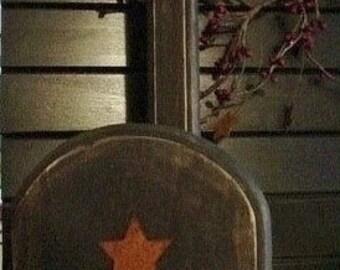 Primitive star black paper towel holder wood country handmade craft