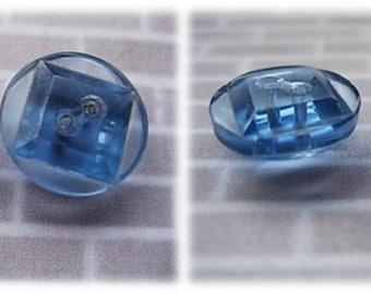 Blue Glass Buttons