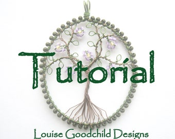 Wire tree tutorial, necklace tutorial, make your own, wire wrap tutorial, beading tutorial, INSTANT DOWNLOAD, wire tutorial, tree of life