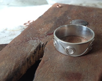 Spiral-Sterling Silber-Band-ring