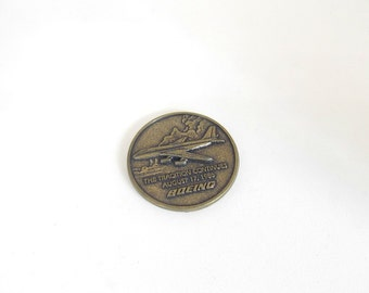 Boeing Coin, Boeing Medal, Boeing Medallion, Airplane, Souvenir Coin, 1986, Boeing Commemorative Medallion, 5,000, Jet, Advertising,Vintage
