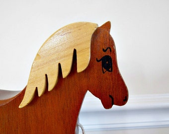 Vintage Horse Pull Toy, Pull Toy, Vintage Toy, Horse, Wood Toy, Vintage Pull Toy, Toy, Vintage, Handmade