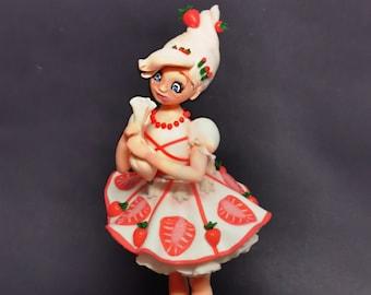 Annabelle - pièce unique en porcelaine froide