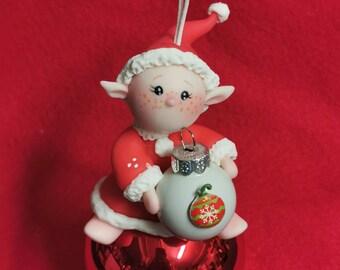 Boule de Noël personnalisable Lutin
