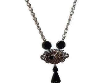SALE  Chain and Watch Movement Steampunk Necklace  PRICE REDUCED N140