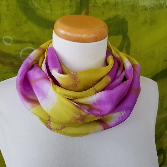 8b24e067b2582 Purple Pazow Yellow White Brown Itajime Shibori Hand-Dyed | Etsy