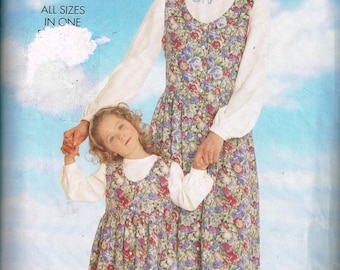 Mother and Daughter Jumper & Top Pattern Butterick 5159 All Sizes Loose Fitting Jumper and Pullover Top Vintage 1997 Sewing Pattern