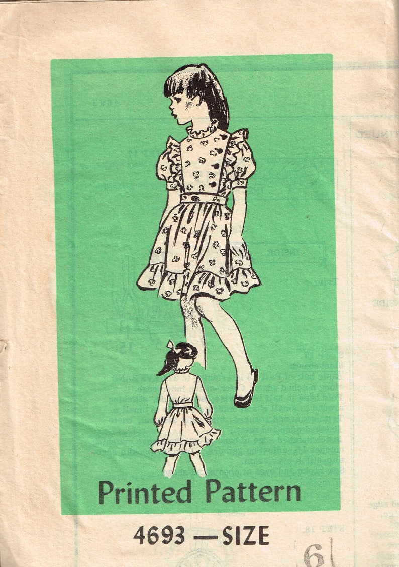 80s Girls Blouse and Skirt Pattern Anne Adams 4693 Size 6 image 0