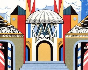 "Silkscreen, ""Capital Kingdom"" (from The Nutcracker), Original Screenprinted Art, Hand-printed, Limited Edition"