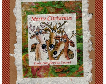 Merry Christmas from Our Herd Card 4 pack