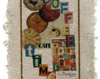 Coffee Time on Handmade Paper