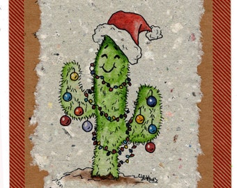 Happy Christmas Cactus Cards 4 Pack