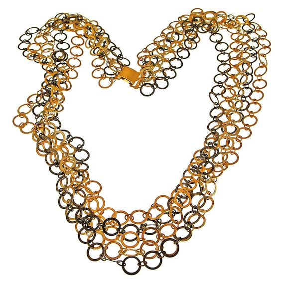 Napier Triple-Color Multi Chain Necklace