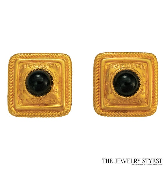 Givenchy Square-shape 1980s Button Earrings