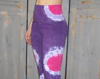 26fed427bb2240 Tie Dye Yoga Pants, Circles, Bohemian, Funky