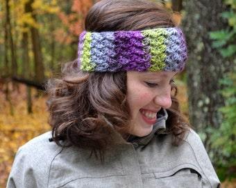 crochet button headwrap, earwarmer, headband