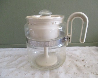 Vintage GEMCO Coffee Po 4-6 Cup A-12~ Includes Insides ~ VGC ~ Free Ship