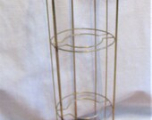 Tall Plant Stand Three Tiered Metal Vintage Retro Indoor Outdoor