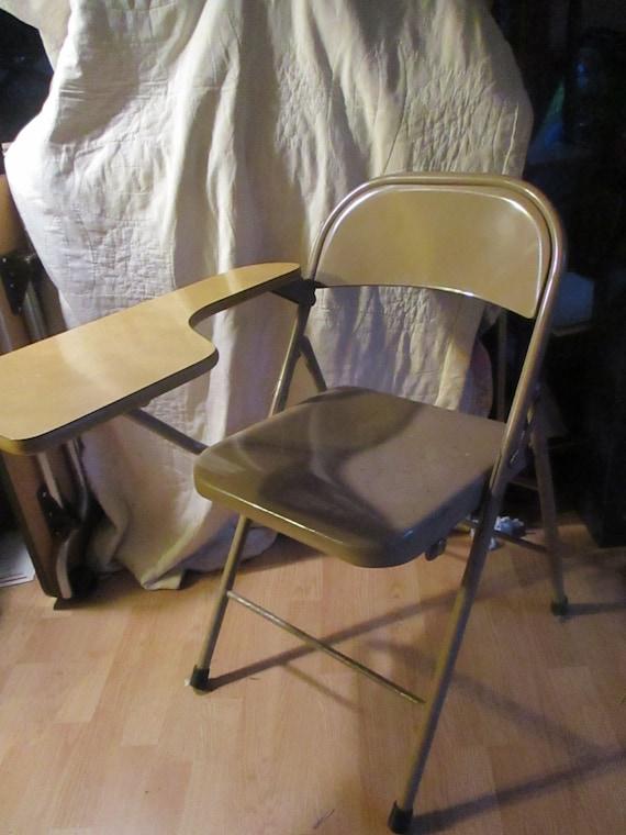 Sensational Folding Desk Chair Gray Metal Vintage Challenger Unemploymentrelief Wooden Chair Designs For Living Room Unemploymentrelieforg