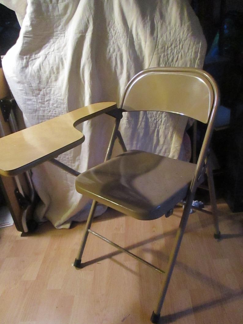 Awe Inspiring Folding Desk Chair Gray Metal Vintage Challenger Unemploymentrelief Wooden Chair Designs For Living Room Unemploymentrelieforg