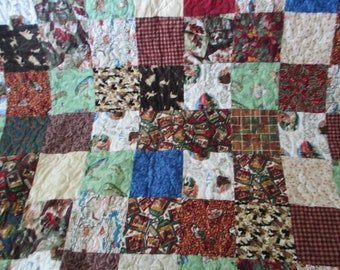 Flannel Twin size Quilt  Woodsie Up North 31
