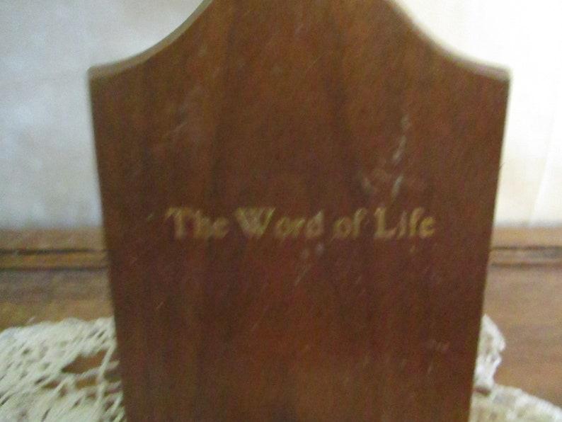 Cross Napkin Holder Letter Organizer Draw nigh unto God The work of life