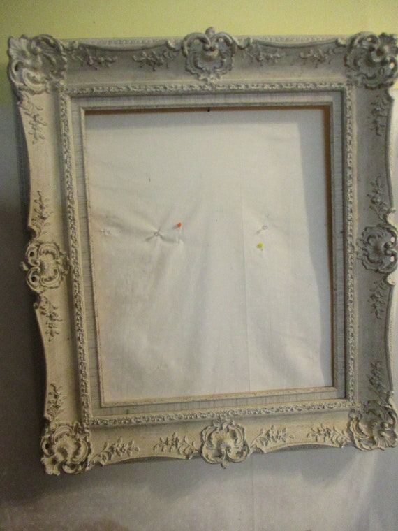 Picture Frame Gesso Large Vintage Off White 24 X 20 Opening Etsy