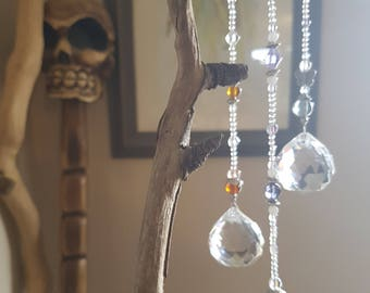 Crystal Suncatcher with Glass Beads