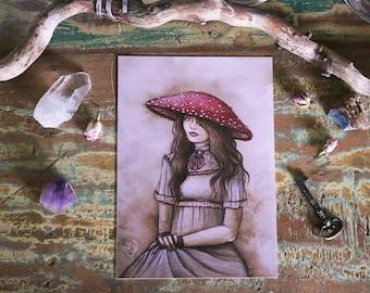 Art Print A5 Lady Amanita Muscaria