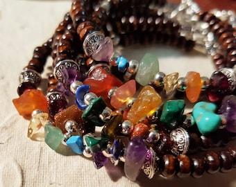 Rainbow Chakra Gemstone Bead Bracelet