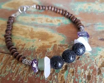 Custom Oil Diffuser Lava Bead Gemstone Bracelet