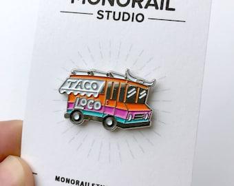 Tacos, Taco Enamel Pin, Cute Enamel Pins, Soft Enamel Pin, Food Enamel Pin