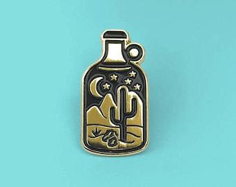 Cactus Enamel Pin, Cute Lapel Pin, Lapel Pin for Her, Lapel Pin for Him, Terrarium Lapel Pin