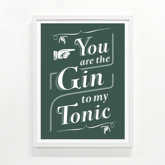 Great Examples For American Kitchen Lovers: Gin Lover Gin Gift Funny Sign Kitchen Decor Bar Sign Gin