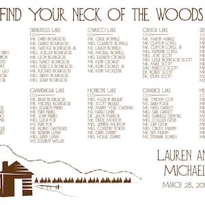 Printable Lake Cabin Wedding Invitations Woods Mountain Scene Pine Trees Outdoor Nature Custom RSVP