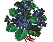 Violets antique cross stitch pattern