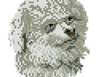 Small dog Victorian pattern for cross stitch or Berlinwork